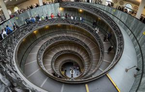 Spirál lépcső a Vatikánban