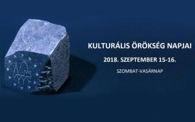 Kulturális Örökség Napjai – 2018.